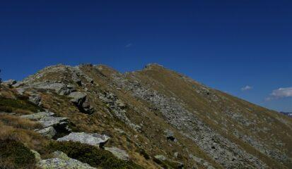 Dal Colle d'Arche la cresta percorsa
