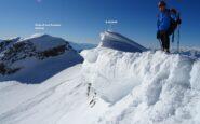 Sbuchiamo in cresta a circa 3200mt.