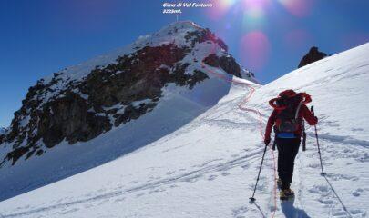 In rosso la traccia per Cima di Val Fontana.