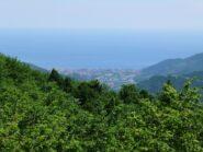 Il mare di Borghetto dall' Alta Via