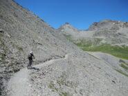 il tratto di sentiero verso il Colle di Puriac 2506 m.