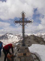 La croce sulla cima del Soubeyran