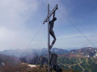 la cima e il versante francese