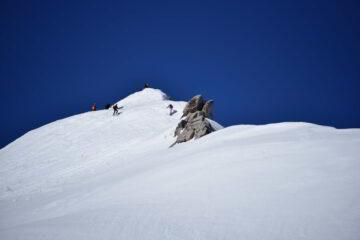 La vetta del mont Fourchon