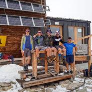Al rifugio con Filippo, Alberto, Michele e Federico