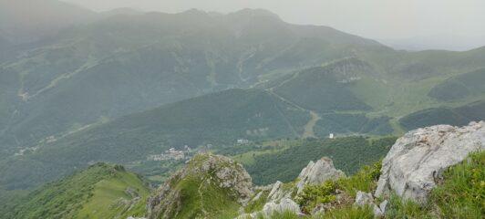 La vista dalla cresta