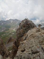 In vista della cima est