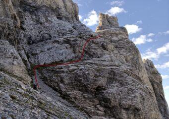 Il percorso della parte bassa