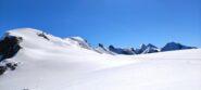 I Breithorn e la traccia di salita