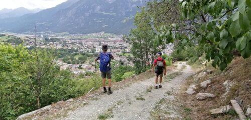 Discesa verso Aosta