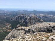 Il panorama su Cusidore e Bruncu Nieddu da Punta Sos Nidos