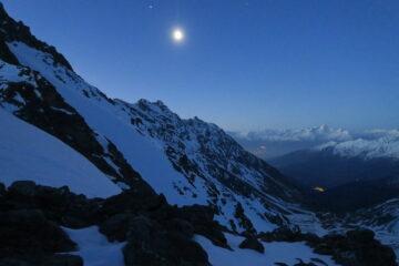 prime luci al Col d'Annibal