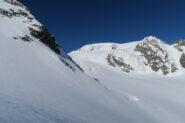 i magnifici pendii che portano verso il Col di Valsorey