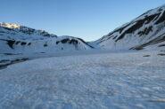 il lago Verney ancora ghiacciato
