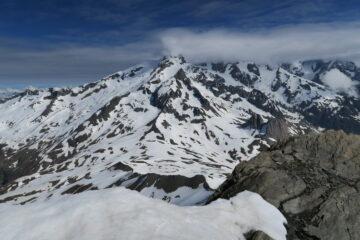 il Col de la Seigne dalla cima