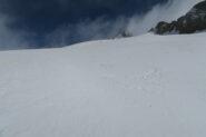 pochi cm di neve fresca sparpagliata dal vento