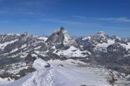 Classicissima foto del Cervino dal Breithorn Occidentale