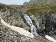 la cascata a 2400 metri