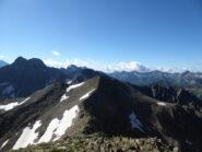 la cresta per la Vermeil, più a sinistra il Malinvern