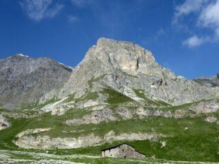 Il Pelvo di Chiausis visto dal Piano Traversagn.