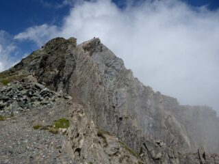 La vetta del Monte Gabel con l'impressionante parete Sud Est.