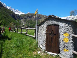 L'imbocco del sentiero 2 a Vaud.