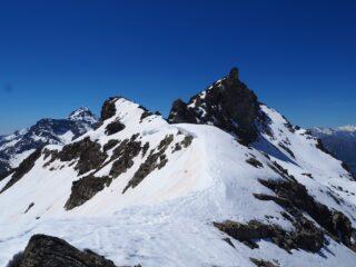 La cresta che dal Colle sale verso la Punta.