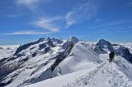 Panorama superlativo sulle principali vette del Rosa dall'Occidentale