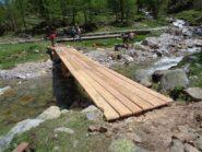 Il nuovo ponte sul torrente