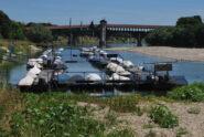 Immagine d'obbligo: il ponte coperto a Pavia visto da sotto il ponte della SP35