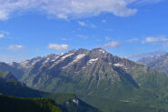 Vista sul gruppo Aiera-Savina-Carboné dai pressi dell ultimo traliccio