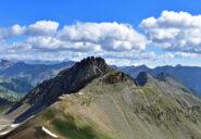 Testa delle Garbe,opere militari,monte Peyron e Monviso all'orizzonte