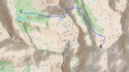 Percorso dal colle Armoine al rifugio Granero, passando per il colle Manzol