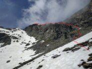Nevai per accedere al colle.