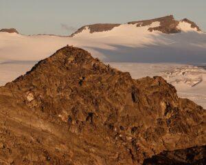 Dalla vetta al Rutor col Mont Lussè in mezzo