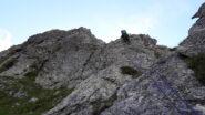 nella parte bassa di reset ridge..