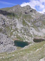I laghetti del Turlo con il Palon a sx e il monte Turlo a ds
