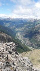 la bassa Valpelline dalla Becca di Nona..