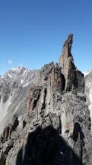 ultimi pinnacoli al culmine della cresta..