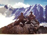 Panorama mozzafiato sulle famose nord del bacino dell'Argentiere