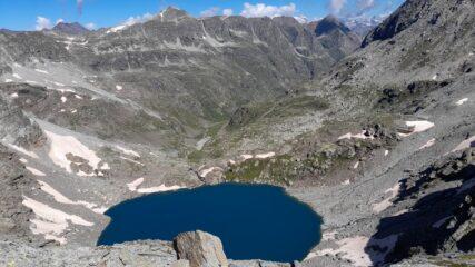 Lago d'Ambin visto dalla cresta