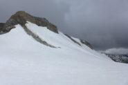 La cima dal Colle dove procediamo con il traverso su neve