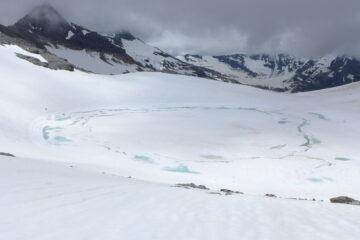 Laghetto glaciale al colle