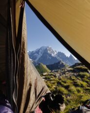 In tenda al Bassa Serra.