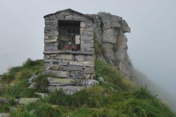L'arrivo al Colle della Colma; sulle condizioni meteo non servono commenti