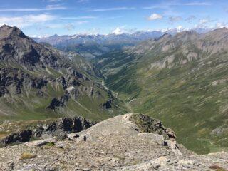 Valle Troncea dalla cima