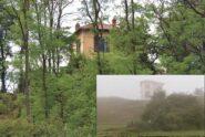 La casa raggiunta da Elia vista oggi e com'era nel film (nel riquadro), non ancora coperta dalla vegetazione