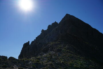 La cresta per il Beceo Grande Ovest. Io l'ho presa dritta ma forse c'è un percorso più facile sulla destra