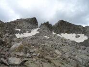 Testa del Vallone e dell'Ubac scendendo verso il ghiacciaio omonimo