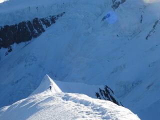 Cresta finale dalla cima
